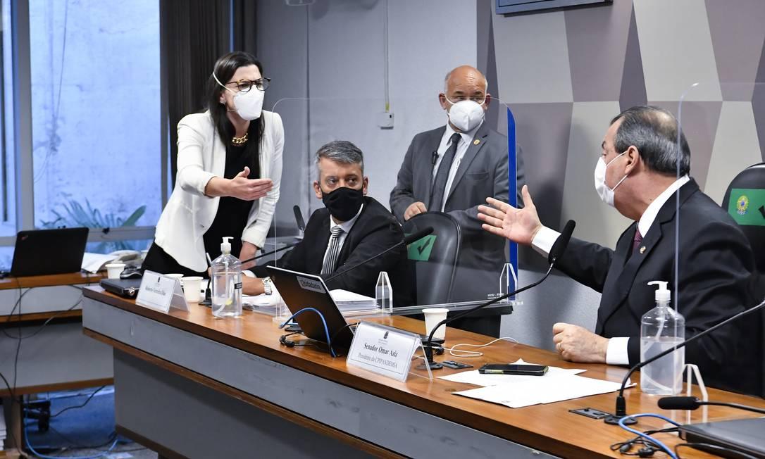 Ex-diretor do Departamento de Logística do Ministério da Saúde, Roberto Dias saiu preso da CPI da Covid Foto: Waldemir Barreto / Waldemir Barreto/Agência Senado