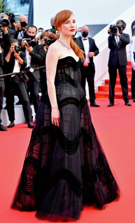 Jessica Chastain em Dior alta-costura Foto: Getty Images