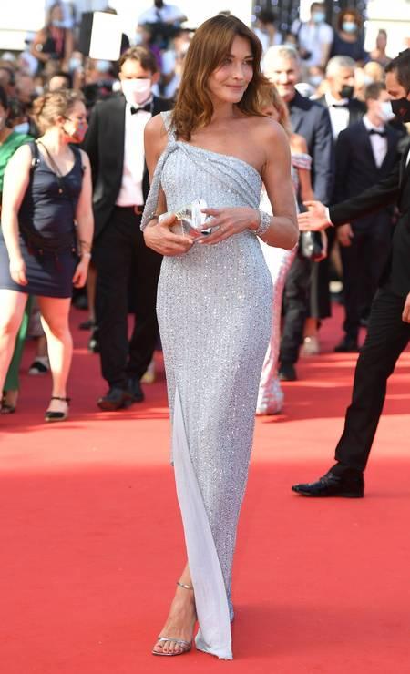 Carla Bruni em Celine Foto: Getty Images