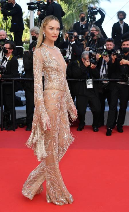 Candice Swanepoel em Etro Foto: Getty Images