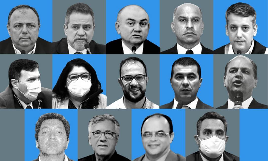 Coronéis, atravessadores, reverendo, fiscal; saiba quem é quem nas denúncias na Saúde que a CPI apura Foto: Editoria de Arte