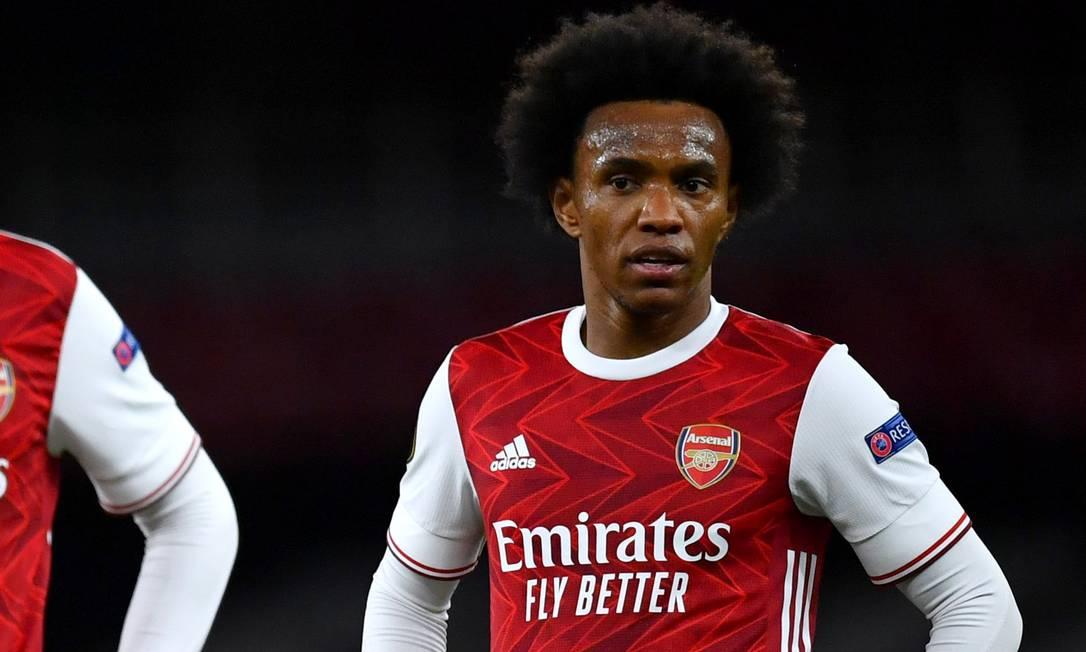Willian se transferiu para o Rival Arsenal no ano passado, e assinou contrato até 2023. Porém, após uma temporada de insucesso, seu futuro no clube está indefinido Foto: DYLAN MARTINEZ / Reuters