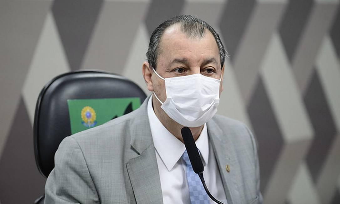 O presidente da CPI da Covid, senador Omar Aziz (PSD-AM) 08/07/2021 Foto: Pedro França/Agência Senado