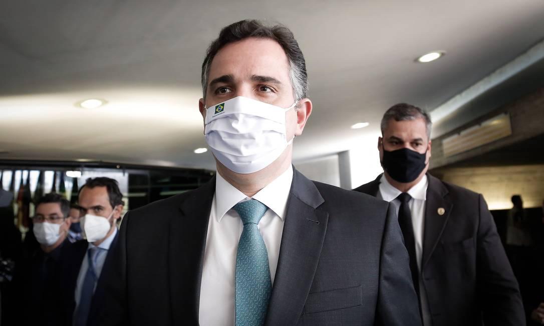 O presidente do Senado Rodrigo Pacheco Foto: Pablo Jacob/Agência O Globo/07-07-2021