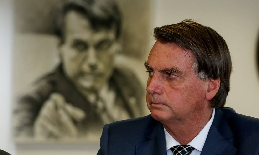 O presidente Jair Bolsonaro vê sua taxa de aprovação recuar Foto: Alan Santos/PR / Agência O Globo (05/07/2021)