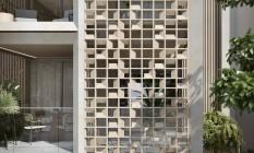 Cobogó. Consagrado pelo movimento modernista, o elemento está na fachada do Atobá, no Leblon Foto: MOZAK/DIVULGAÇÃO
