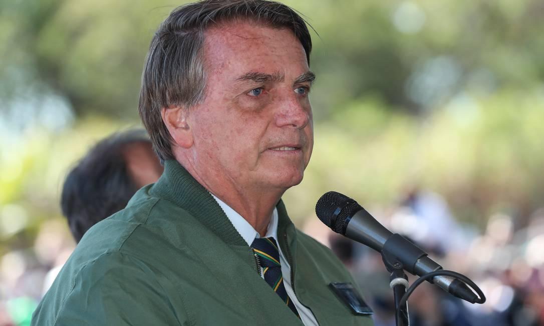 O presidente Jair Bolsonaro em cerimônia no Mato Grosso do Sul (30/06/2021) Foto: Isac Nóbrega/PR