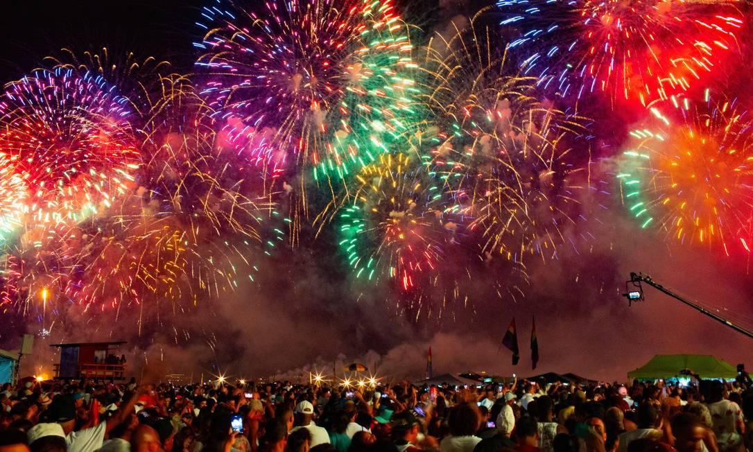 RI Rio de Janeiro (RJ) 31/12/2019 Réveillon em Copacabana Foto Roberto Moreyra / Agência O Globo Foto: Roberto Moreyra / Agência O Globo