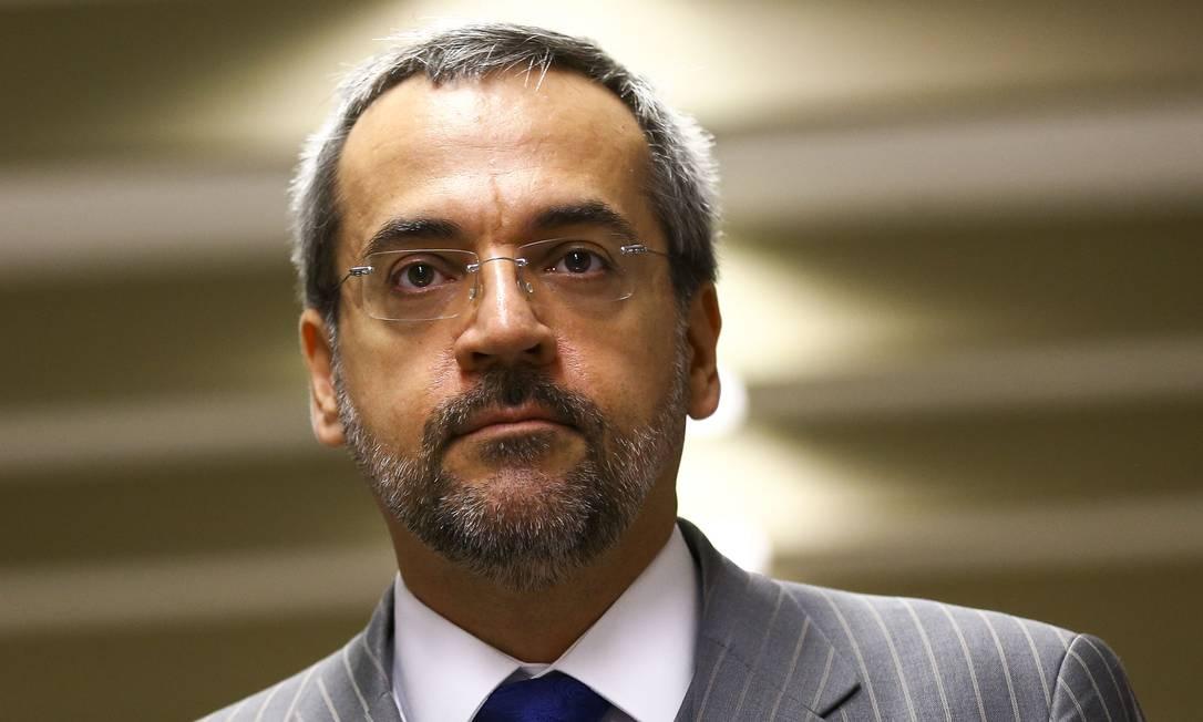 O ex-ministro da Educação, Abraham Weintraub 07/05/2019 Foto: Marcelo Camargo / Agência O Globo