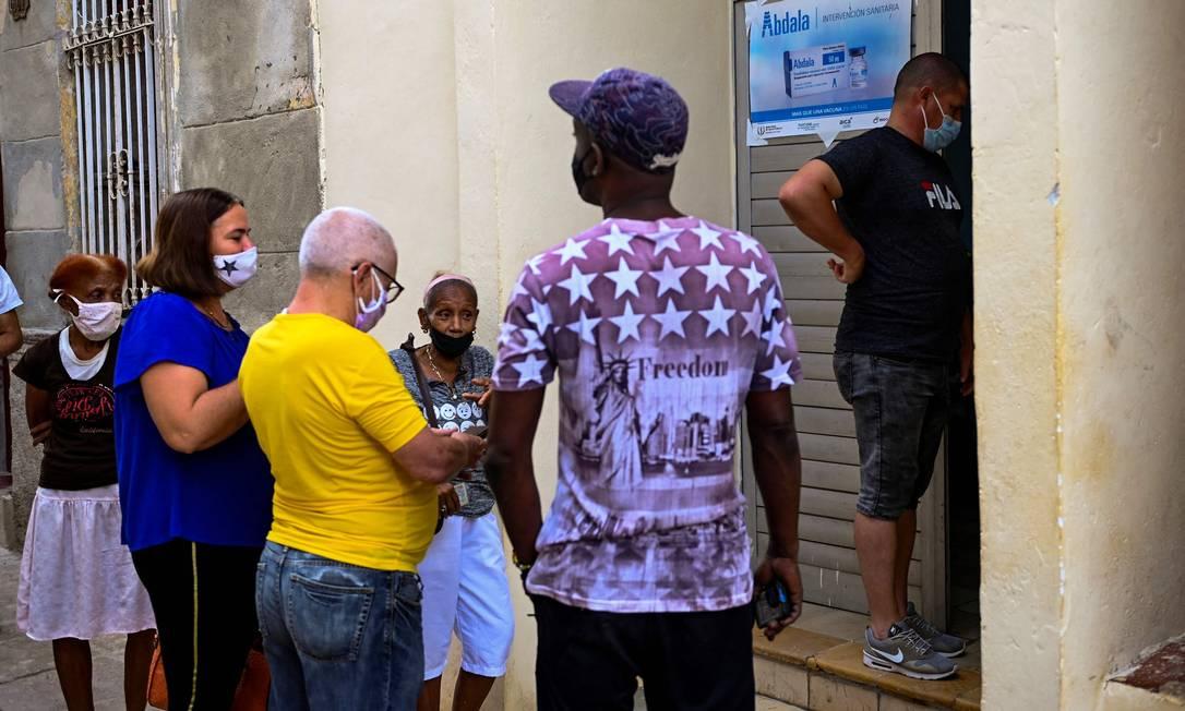 Vacinação em Havana já começou com imunizante cubano Abdala Foto: YAMIL LAGE/AFP / AFP
