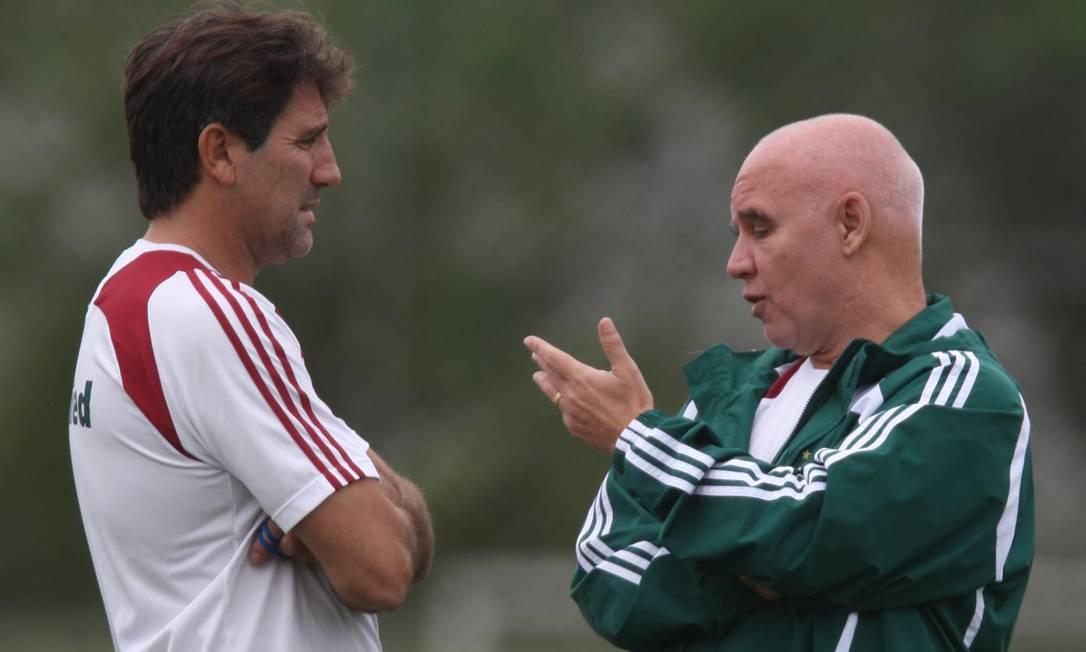 Renato Gaúcho teve Valdir Espinosa como auxiliar técnico no Fluminense Foto: Jorge William / Agência O Globo - 04/08/2009