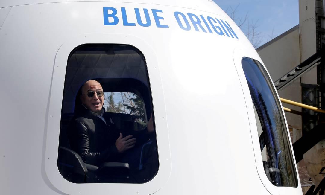 Blue Origin foi fundada por Jeff Bezos, ex-CEO da Amazon Foto: Isaiah Downing / REUTERS