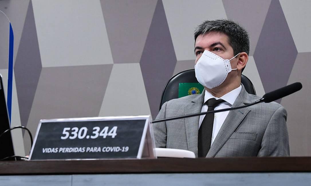 O vice-presidente da CPI da Covid, Randolfe Rodrigues Foto: Edilson Rodrigues/Agência Senado