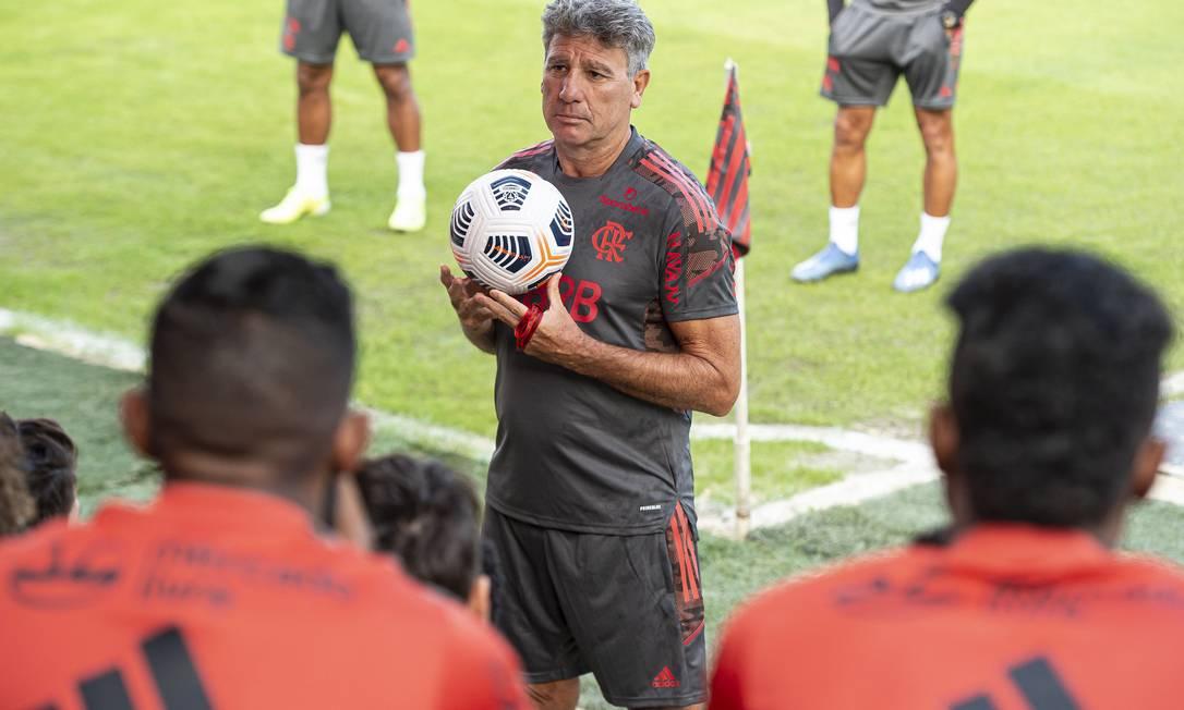 Renato Gaúcho comanda primeiros trabalhos no Flamengo Foto: Alexandre Vidal/Flamengo
