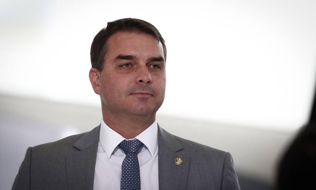 Senador Flávio Bolsonaro Foto: Pablo Jacob / Agência O Globo