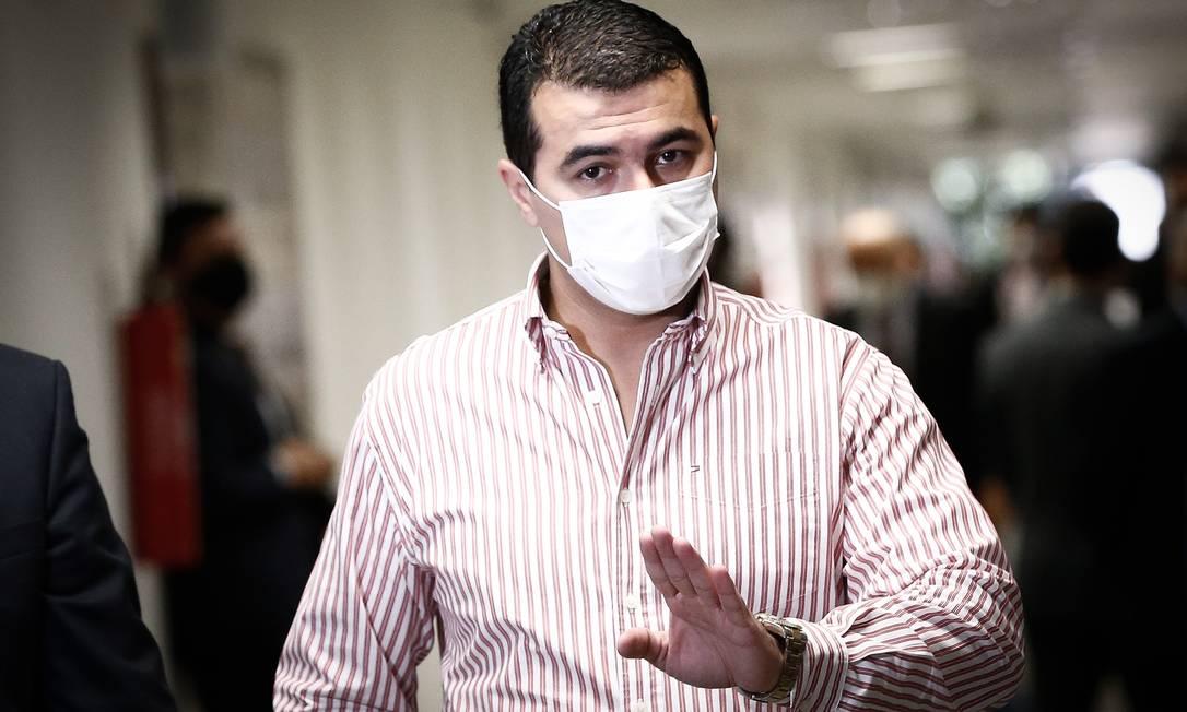 O deputado federal Luis Miranda participou da CPI da Covid em 26 de junho Foto: Pablo Jacob / Agência O Globo (01/07/21)