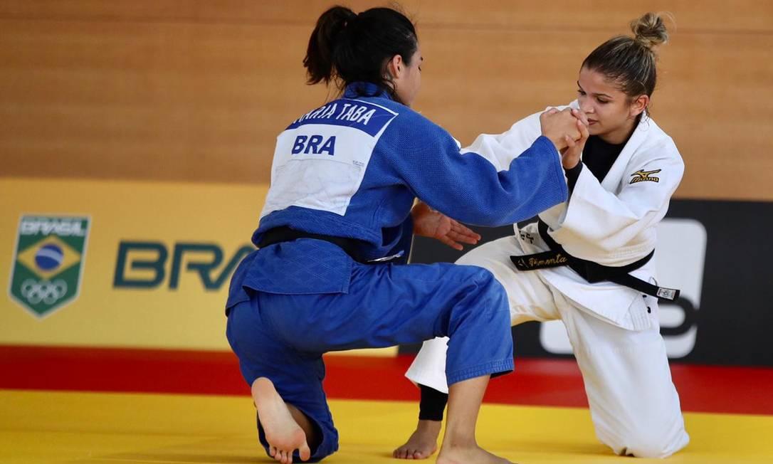 Judocas fazem treino no Centro de Treinamento do Time Brasil em Hamamatsu Foto: Gaspar Nóbrega/COB