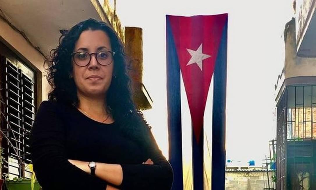 Correspondente do jornal espanhol ABC, Camila Acosta, foi detida durante os protestos em Cuba Foto: Facebook / Reprodução