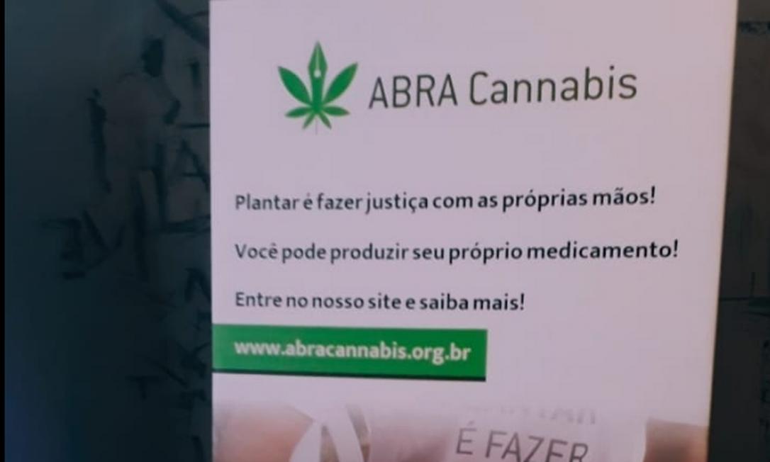Policiais foram sem mandado à sede da Abracannabis após denúncia de plantio ilegal de maconha, mas nada encontraram Foto: Facebook / Reprodução