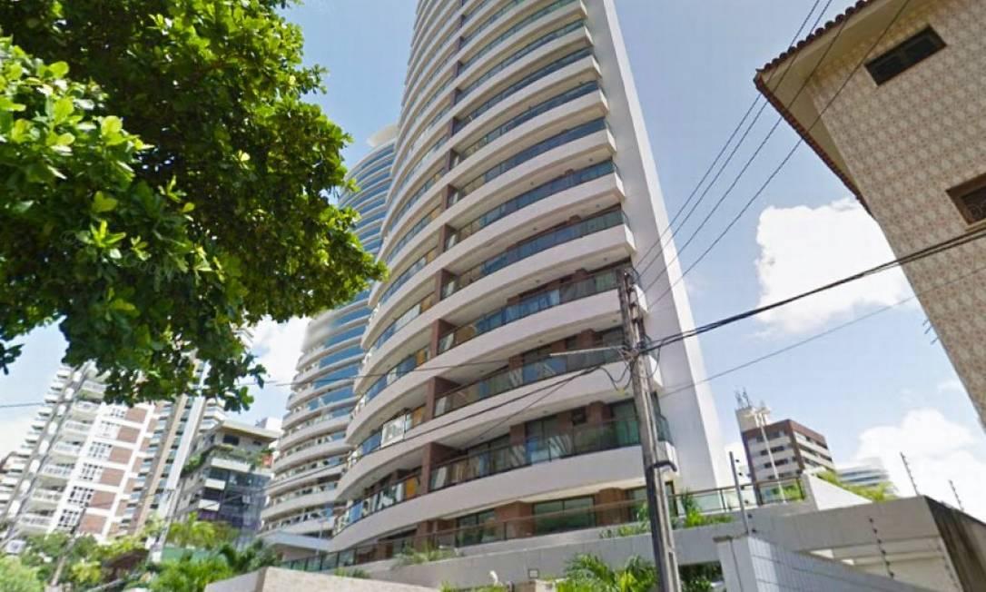 Edifício em que está localizado o apartamento de Ciro Gomes arrematado por Eunício Foto: Reprodução