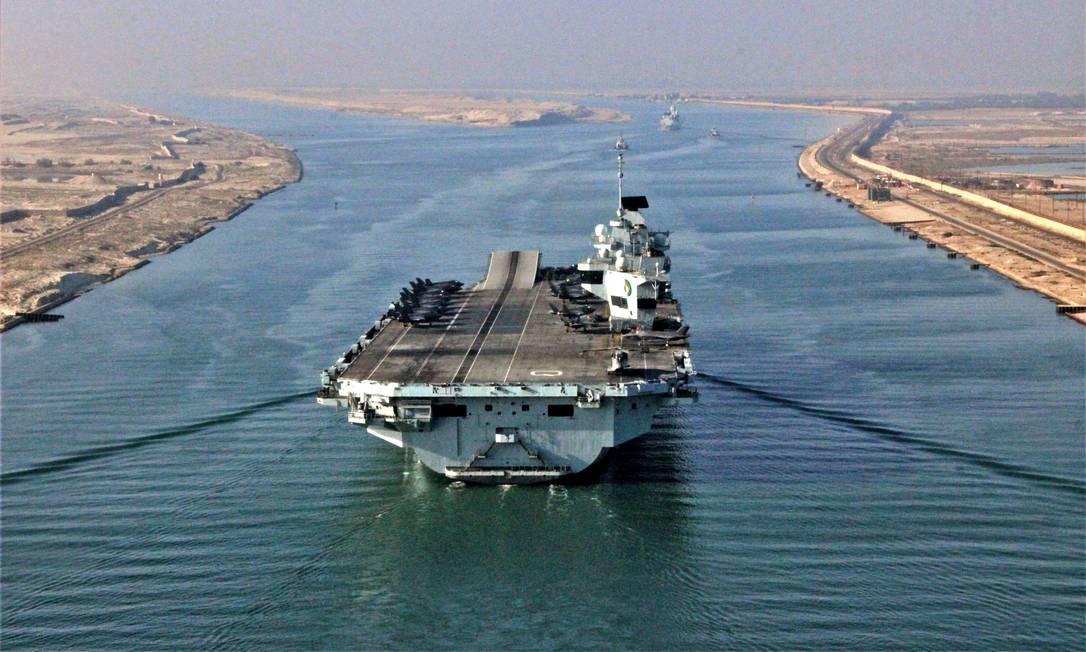 O HMS Queen Elizabeth Foto: ROYAL NAVY / CROWN COPYRIGHT / AFP