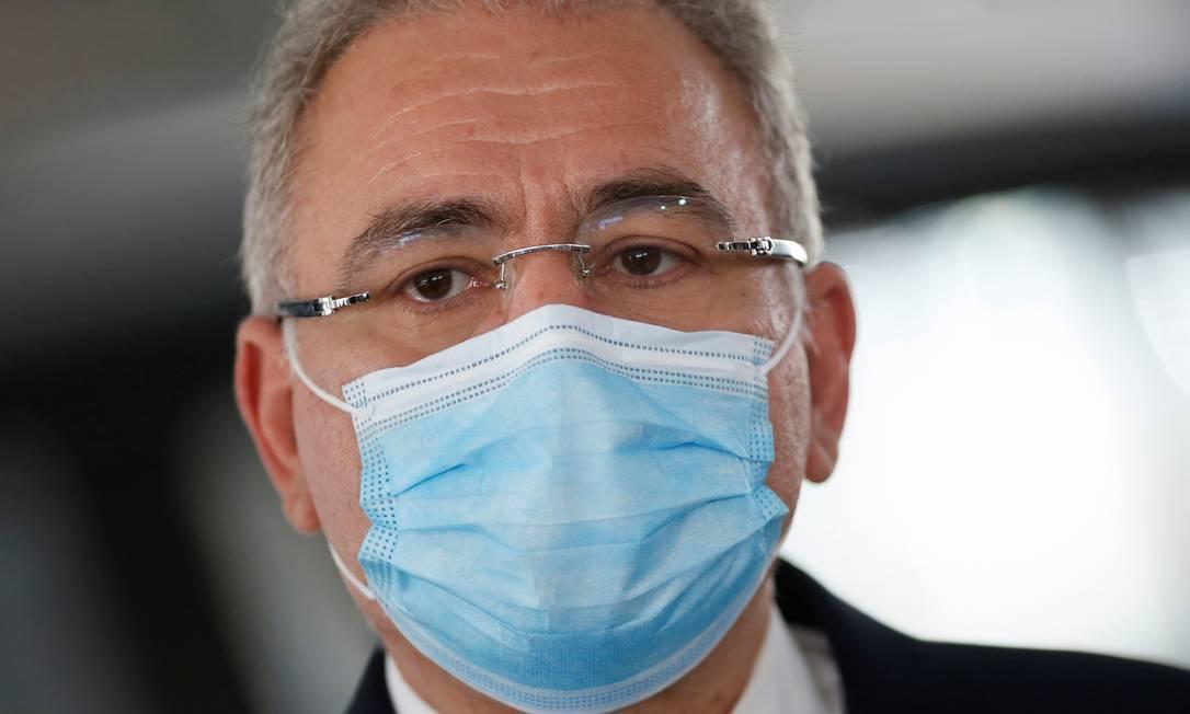 Ministro da Saúde, Marcelo Queiroga, em 6 de julho de 2021 Foto: ADRIANO MACHADO / REUTERS