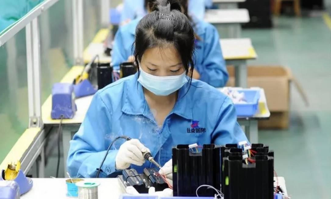 Após recorde no primeiro trimestre, economistas esperavam uma desaceleração do PIB chinês no período de abril a junho Foto: Bloomberg
