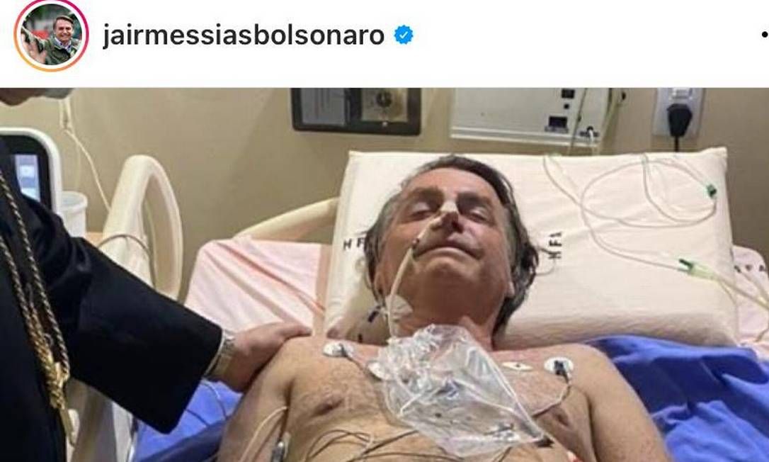 Bolsonaro foi internado no Hospital das Forças Armadas (HFA), após ter dores no abdômen Foto: Reprodução