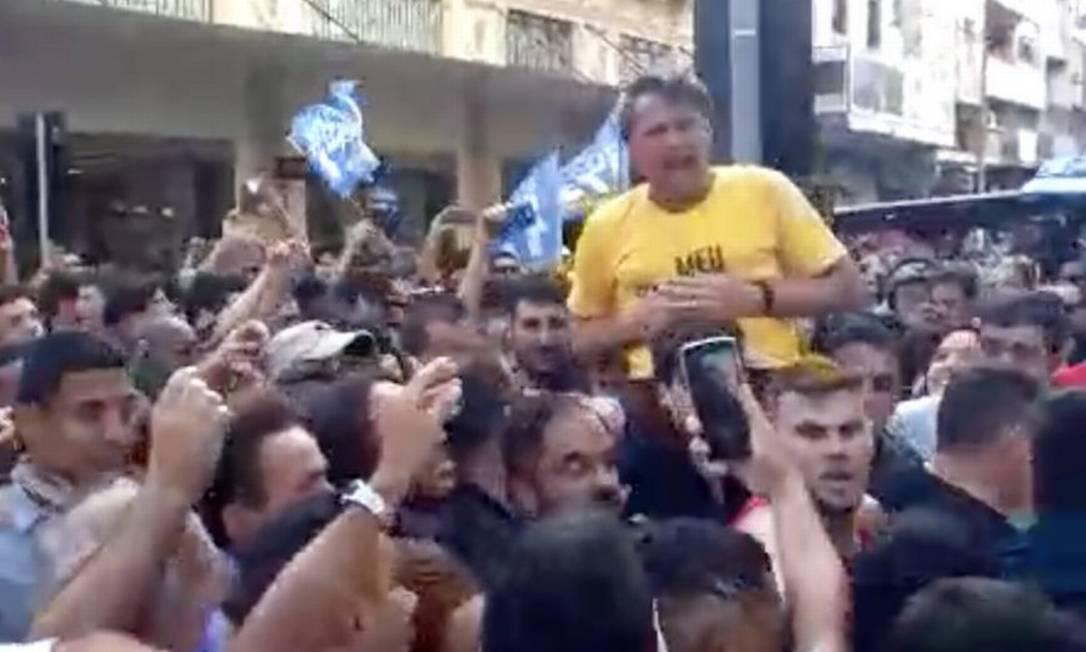Bolsonaro estava em ato de campanha em Minas Gerais quando foi atacado Foto: Reprodução