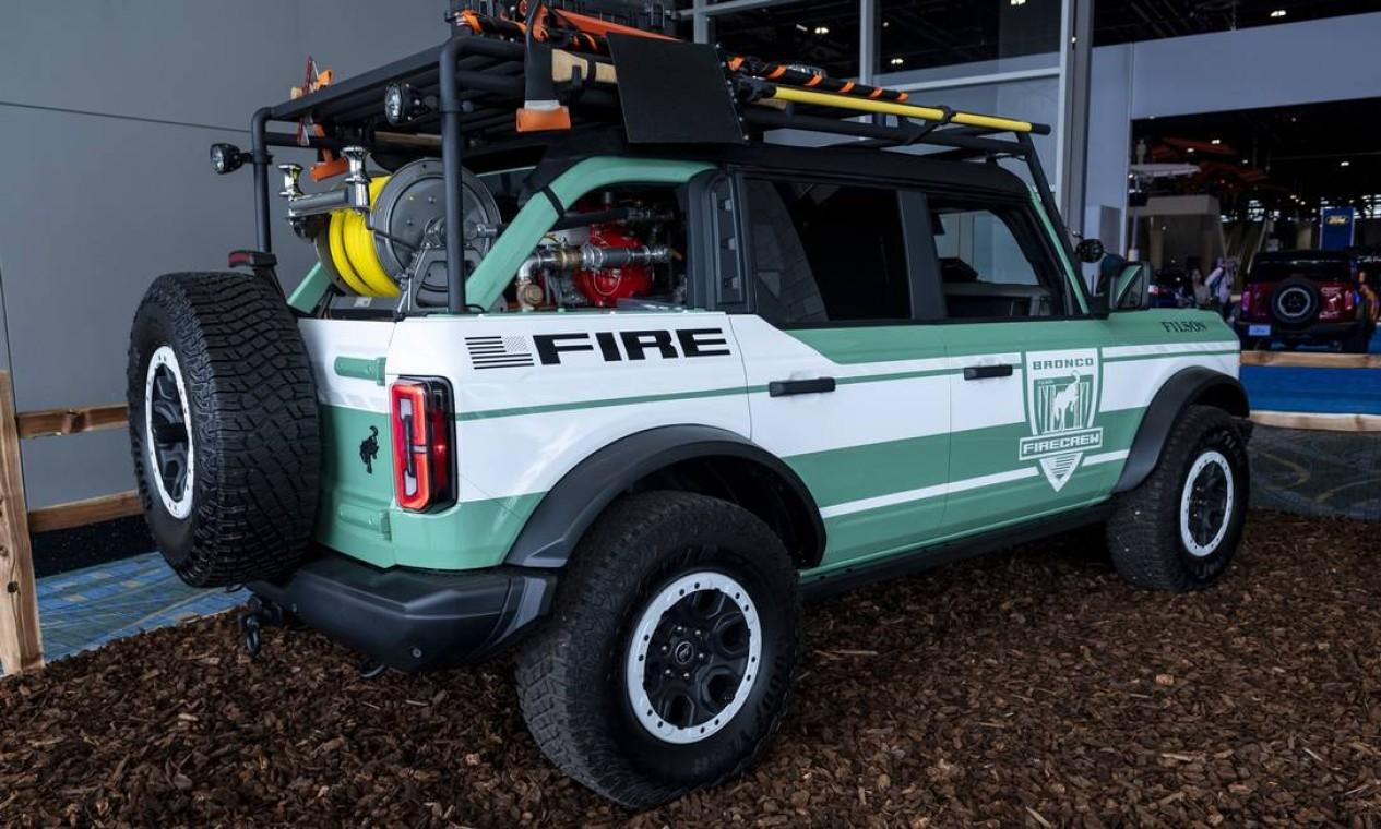 Utilitário esportivo (SUV) Ford Motor Bronco + Filson Fire Rig Foto: Christopher Dilts / Bloomberg