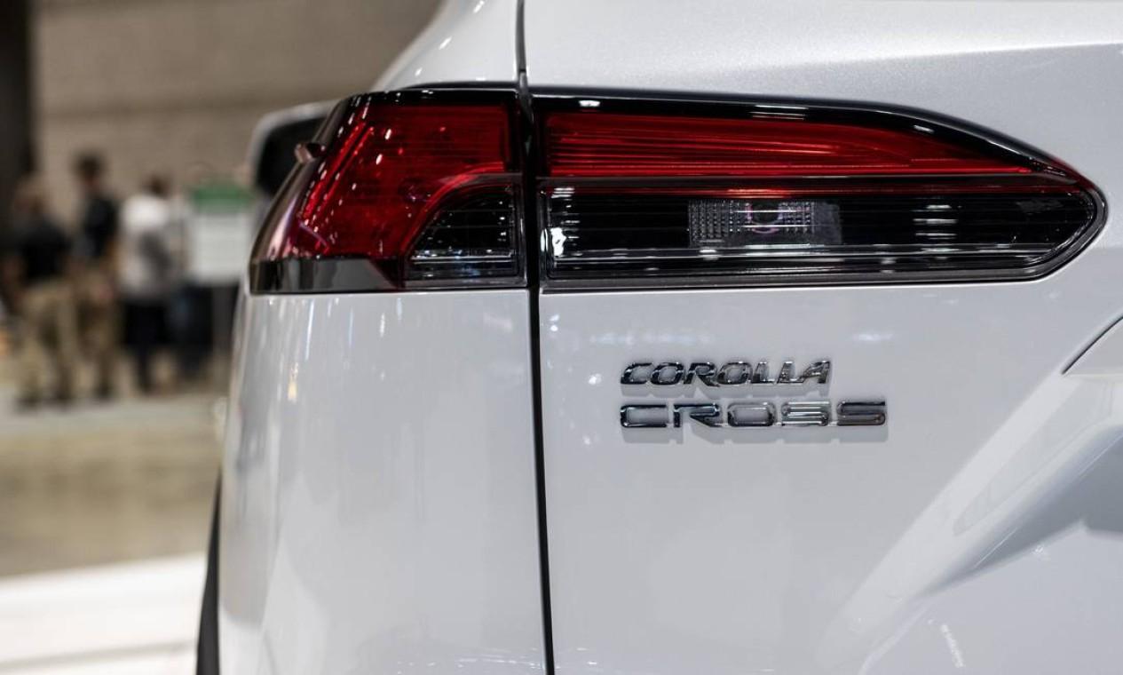 Lanterna do SUV Toyota Corolla Cross Foto: Christopher Dilts / Bloomberg