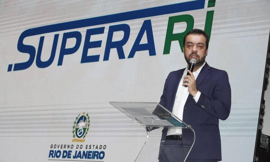 O governador Cláudio Castro durante evento de lançamento do SuperaRJ, em junho Foto: Luiz Alvarenga / Divulgação