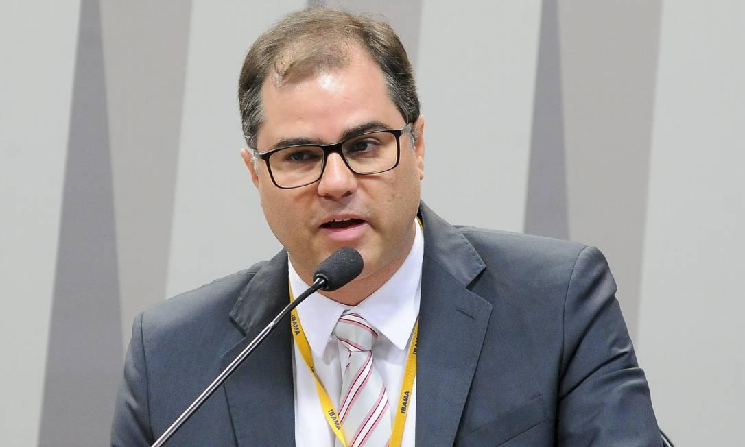O diretor de Licenciamento Ambiental do Ibama, Jônatas Souza da Trindade, durante audiência no Senado Foto: Pedro França/Agência Senado/20-07-2017