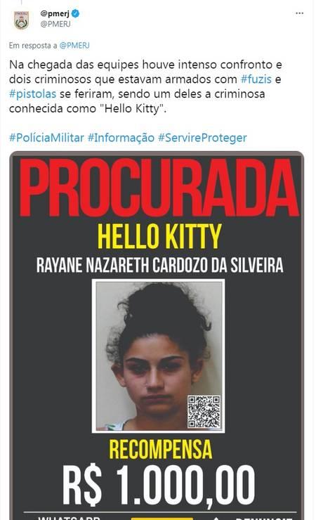 Polícia Militar divulgou em suas redes sociais ter trocado tiro com os criminosos Foto: Twitter / PMERJ / Reprodução