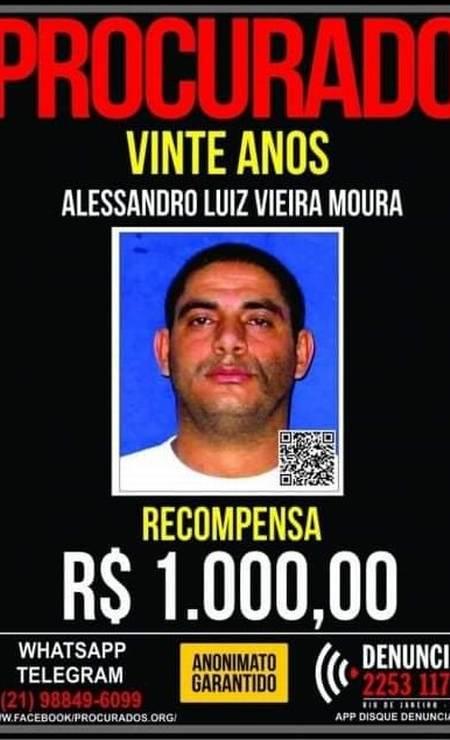 O criminoso Vinte Anos, morto nesta sexta-feira durante operação da PM Foto: Reprodução
