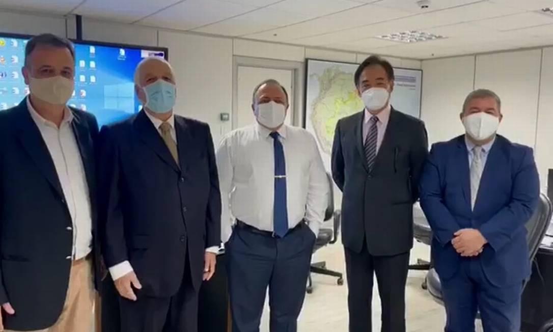 Pazuello se reuniu com empresários que ofereceram Coronavac como intermediários Foto: Reprodução