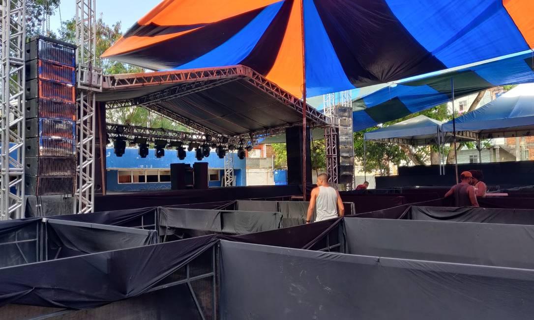 Ciep no Complexo da Maré seria palco de show de funk no fim de semana, segundo a PM Foto: Reprodução