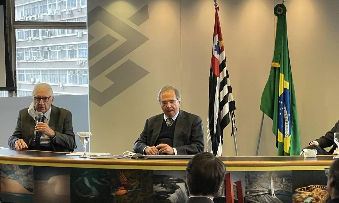 O ministro Paulo Guedes se reúne com empresários em São Paulo Foto: Divulgação