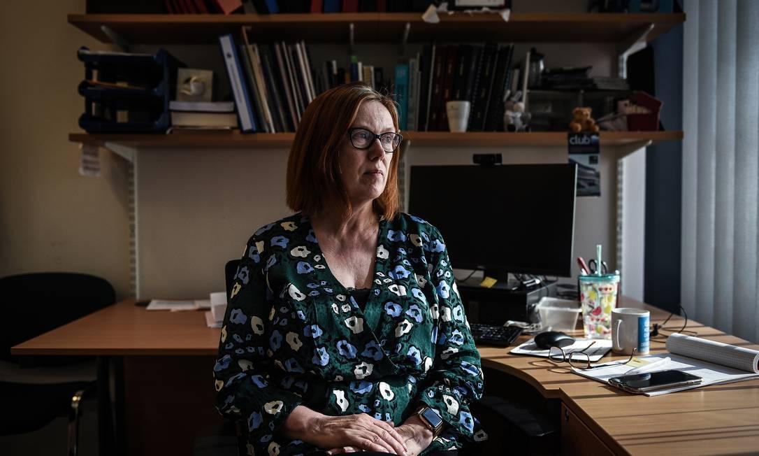 Professora Sarah Gilbert, que liderou o desenvolvimento da vacina contra a Covid-19 na Universidade de Oxford, em 24 de abril de 2020 Foto: MARY TURNER / NYT
