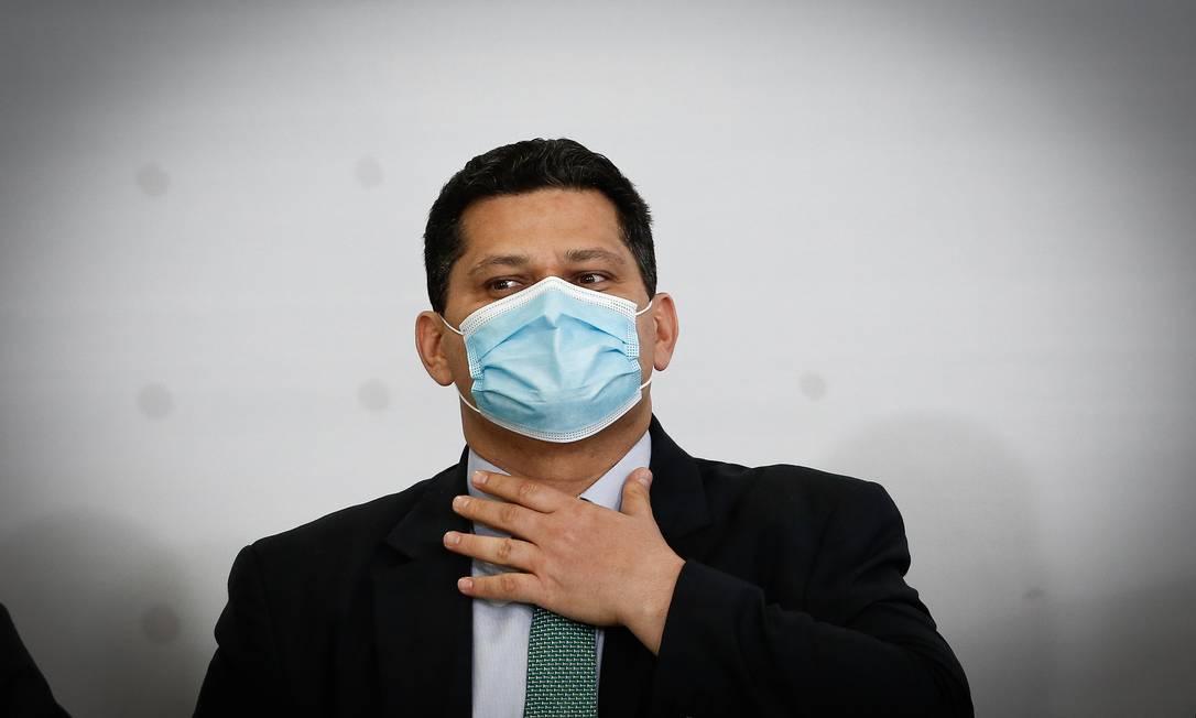 Fora da presidência do Senado, Alcolumbre viu estremecimento da relação com o governo Bolsonaro Foto: Pablo Jacob / Agência O Globo/01-09-2020