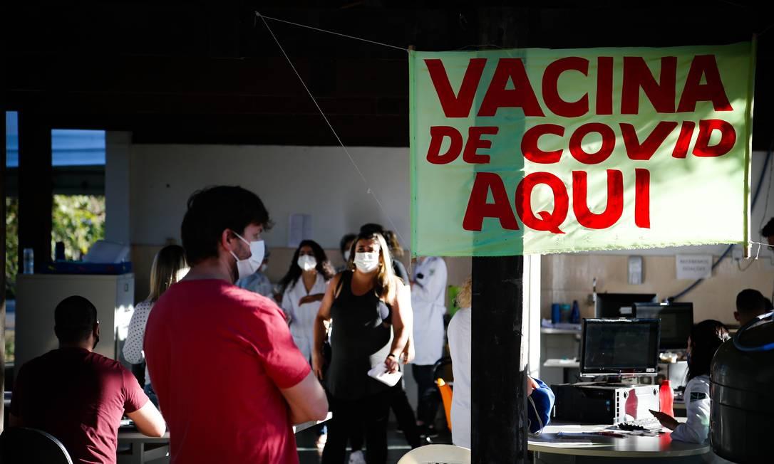 Xepa da vacina contra a Covid-19 no Distrito Federal Foto: Pablo Jacob / Agência O Globo/16-07-2021