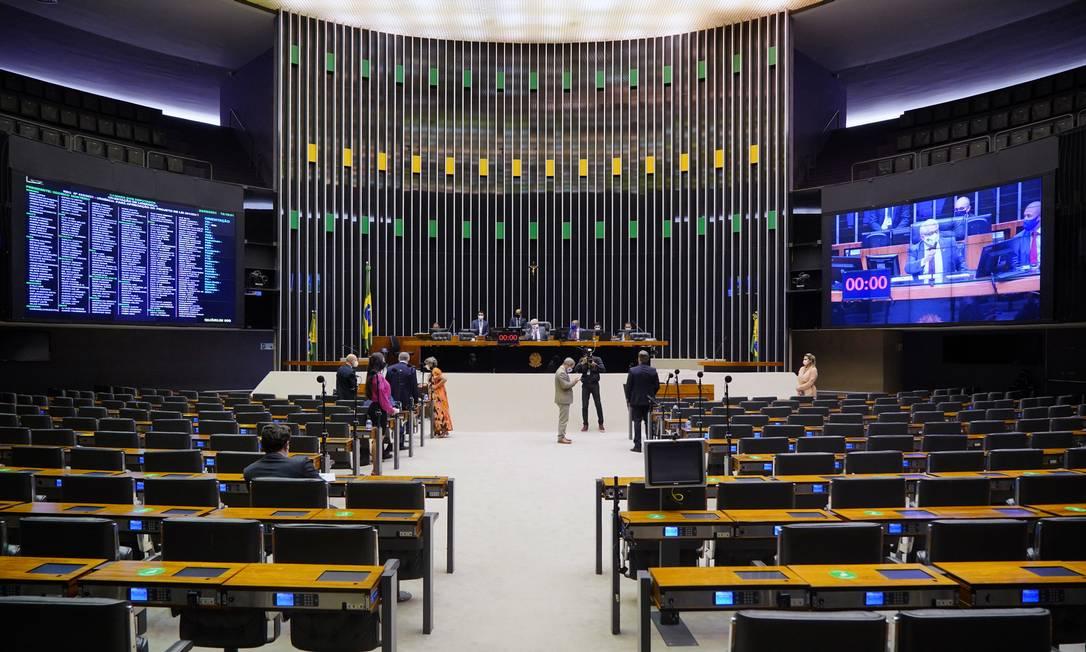 Plenário da Câmara dos Deputados: ideia é que novo código eleitoral seja colocado em votação até agosto, a tempo de valer nas eleições de 2022 Foto: Pablo Valadares / Câmara dos Deputados/24-06-2021