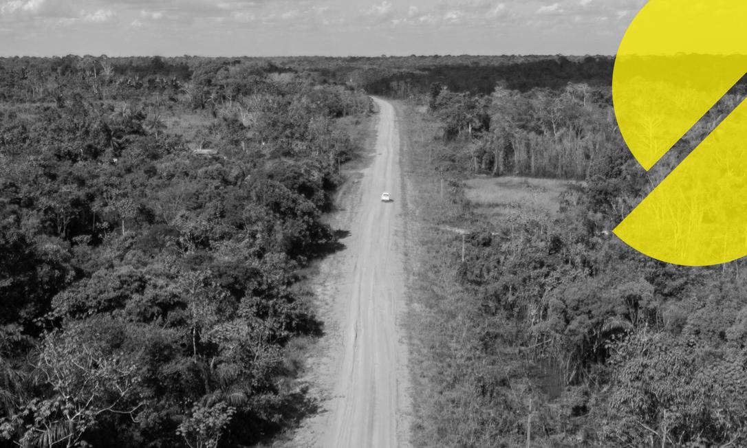 A Rodovia TransAmazônica gera um boom no desmatamento na região do entorno, atraindo aventureiros, grileiros e madeireiros ilegais ao longo dos anos. Foto: Brenno Carvalho/Agência O Globo