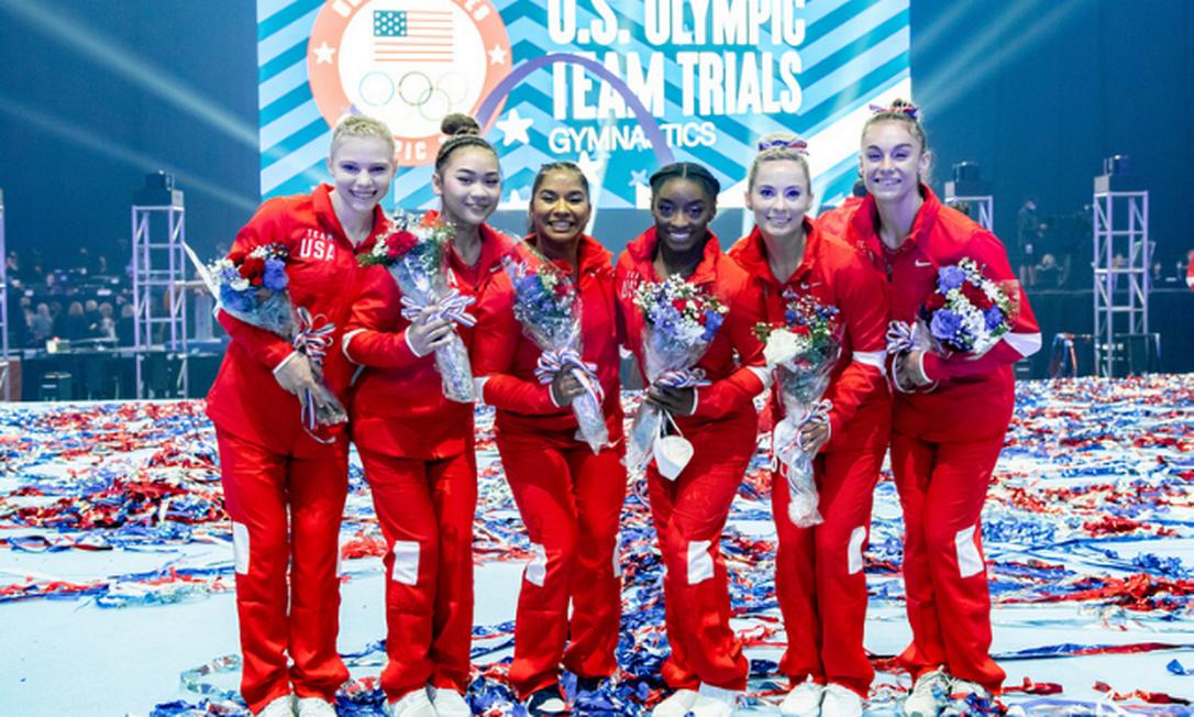 Equipe feminina de ginástica dos Estados Unidos Foto: John Cheng/USAG