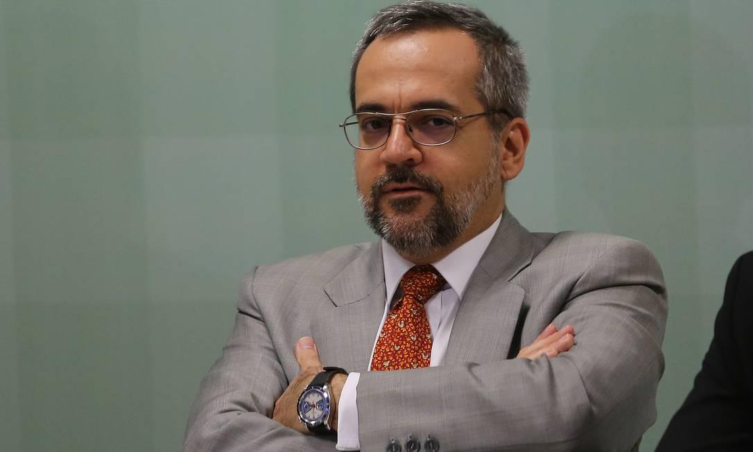 O ex-ministro da Educação, Abraham Weintraub, planeja concorrer ao governo paulista Foto: Jorge William / Agência O Globo (05/12/2019)