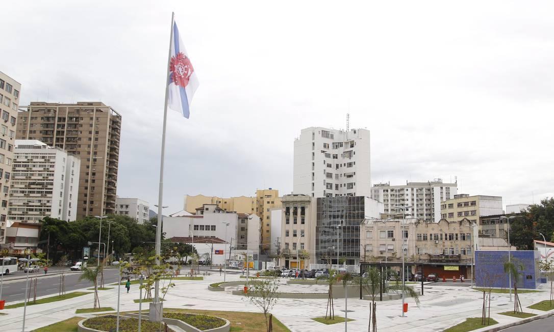 A Praça da Bandeira, na Zona Norte do Rio Foto: Marcelo Carnaval/Agência O Globo