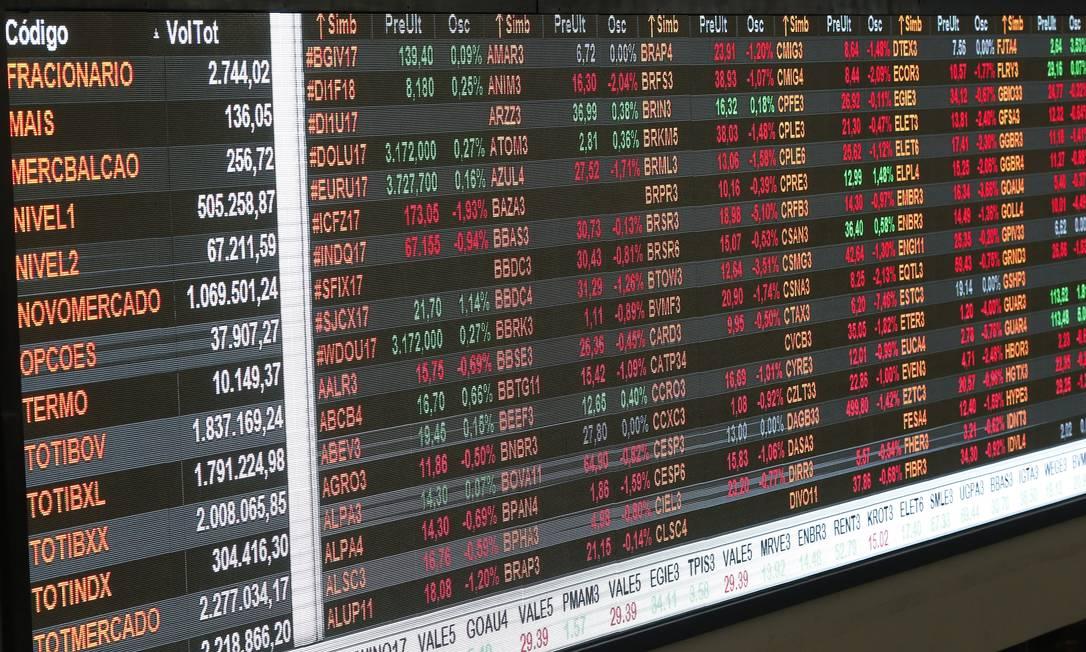 Com taxa de juros baixa, investidores buscam ganhos maiores na renda variável Foto: Marcos Alves / Agência O Globo