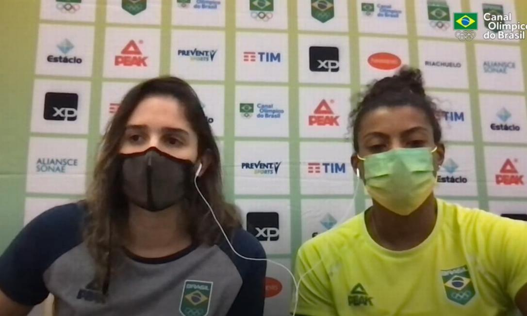 Natália e Fernanda Garay falam sobre a estreia em Tóquio Foto: Reprodução/Time Brasil