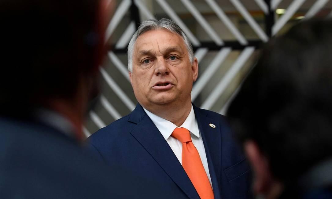 Primeiro-ministro da Hungria, Viktor Orbán, fotografado em Bruxelas Foto: POOL / REUTERS