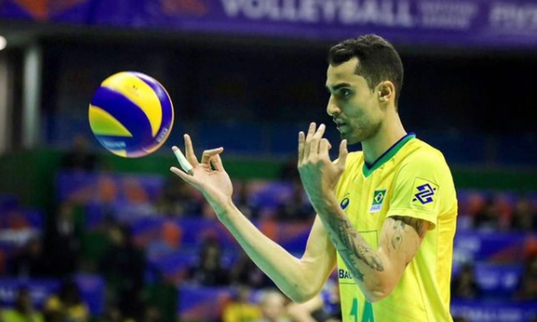 Douglas Souza durante a disputa da Liga das Nações Foto: VNL/Instagram/Douglas Souza